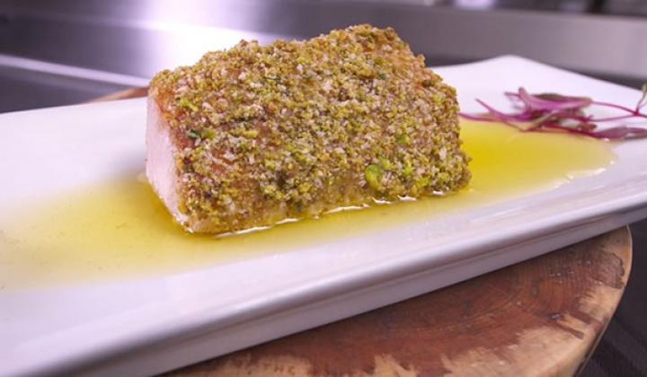 Pistachio Crusted Cobia with Brown Butter